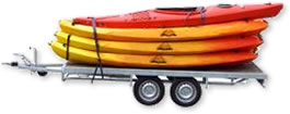 Trailer carrying boats