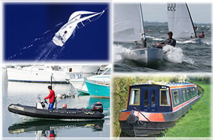 Collage of 4 boat pictures